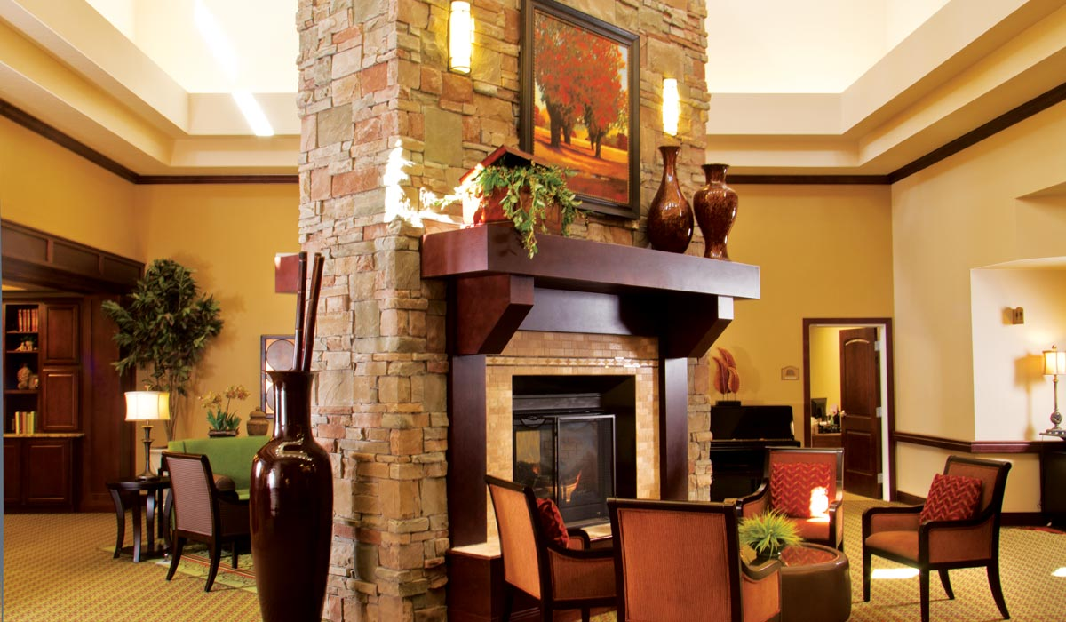 Beautiful Fireplace at Fairfield Village of Layton